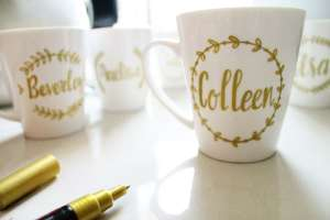 DIY personalised name mug