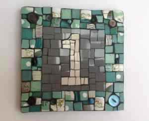 mosaic house number DIY personalised gift