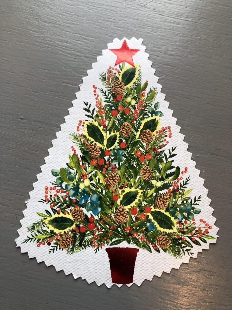 reuse christmas cards as gift tags
