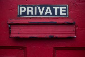 Image that says private