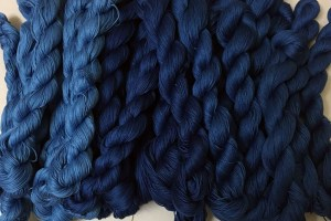 First Indigo Dyed Sashiko Thread 1