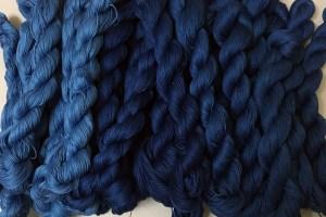 First Indigo Dyed Sashiko Thread 1