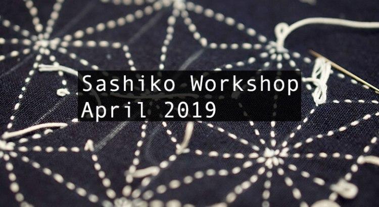 Sashiko Workshop April 2019 Cover