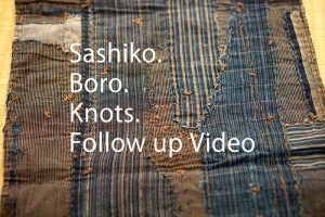 Sashiko Boro Knots Cover
