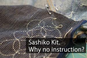 Sashiko Instruction Cover