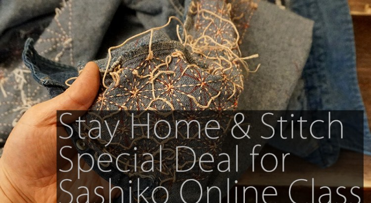 Stay Home and Sashiko Cover
