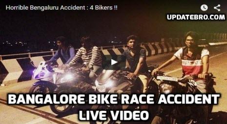 Bangalore Bike Race Accident Video