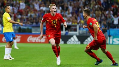 Image result for Belgium beat Brazil 2 -1 to reach Semi-final