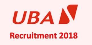 UBA Recruitment 2018