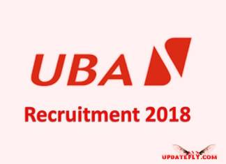 UBA Recruitment 2018