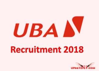 UBA Recruitment 2018/2019