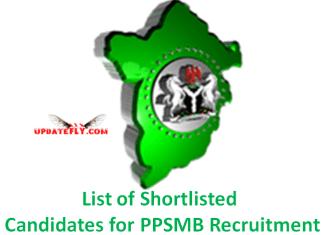PPSMB Recruitment
