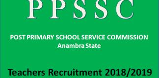 PPSSC Teachers Recruitment 2018