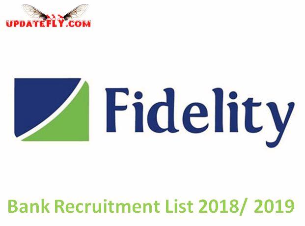 Fidelity Bank Recruitment 2018