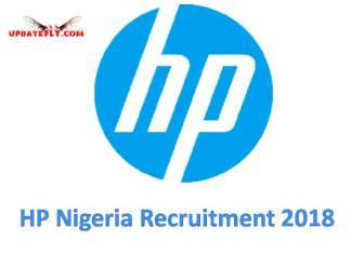 HP Nigeria Recruitment 2018