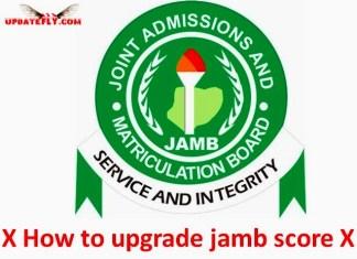 How to upgrade jamb score