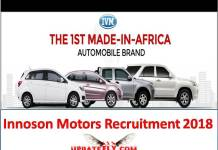 Innoson Motors Recruitment 2018