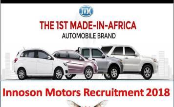Innoson Motors Recruitment 2018