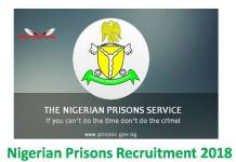 Nigerian Prisons Recruitment 2018