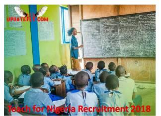 Teach for Nigeria Recruitment 2018