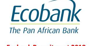 Ecobank Recruitment 2018