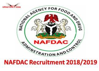 NAFDAC Recruitment 2018/2019