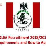NDLEA Recruitment 2018/2019
