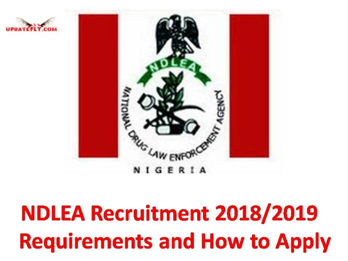 NDLEA Recruitment 2018/2019