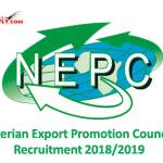 Nigerian Export Promotion Council Recruitment 2018/2019
