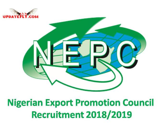 Nigerian Export Promotion Council Recruitment 2018/2019