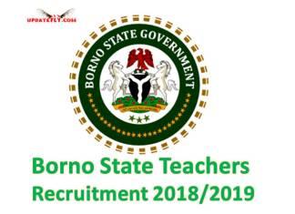 Borno State Teachers Recruitment 2018/2019