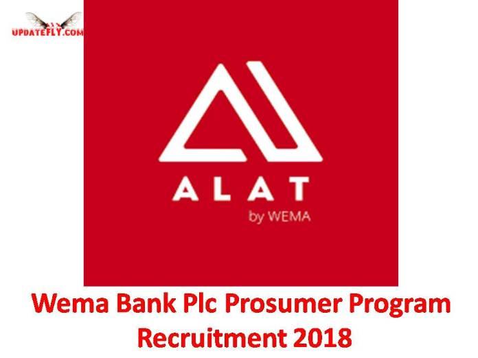 Wema Bank Plc Prosumer Program Recruitment 2018