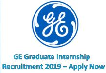 GE Graduate Internship Recruitment 2019