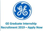 GE Graduate Intern Recruitment 2019