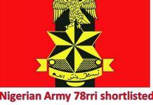 78rri shortlisted candidates