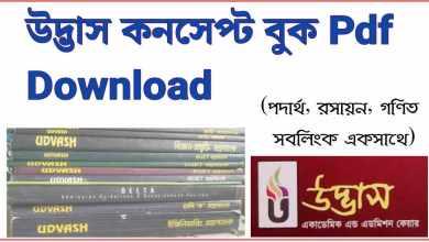 Photo of উদ্ভাস কনসেপ্ট বুক pdf Download (পদার্থ, রসায়ন, ম্যাথ)