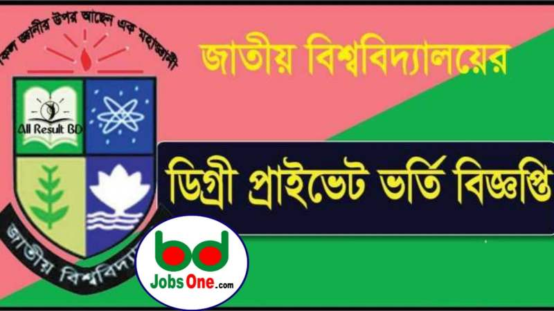 NATIONAL UNIVERSITY DEGREE BA/BBS AND BSS PRIVATE /CERTIFICATE ADMISSION CIRCULAR 2020