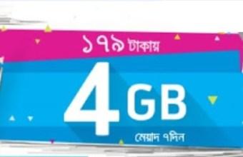 GP 4GB Internet 179Tk Offer