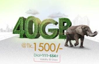 Teletalk 40GB Internet 1500Tk Offer
