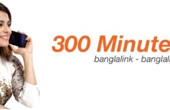 Banglalink 300 Minute 93Tk Offer