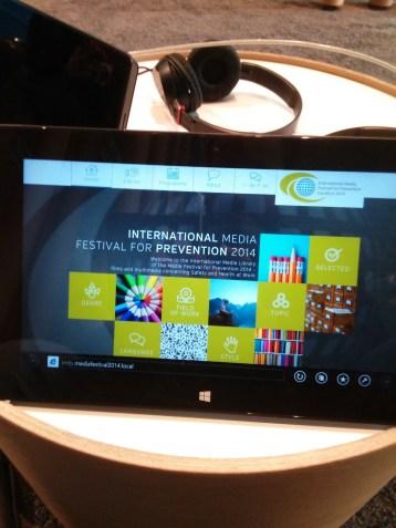 International Media Festival for Prevention Media Lounge - Tablet - General