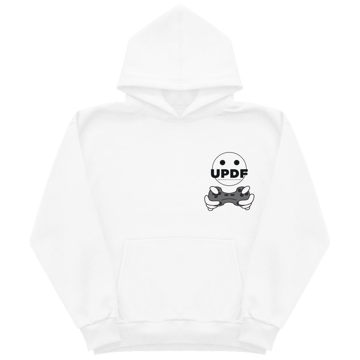 White Joystick hoodie