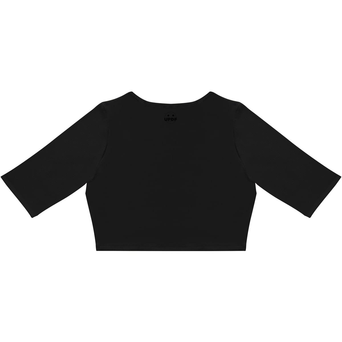 Black 3/4 Sleeve Top UPDF