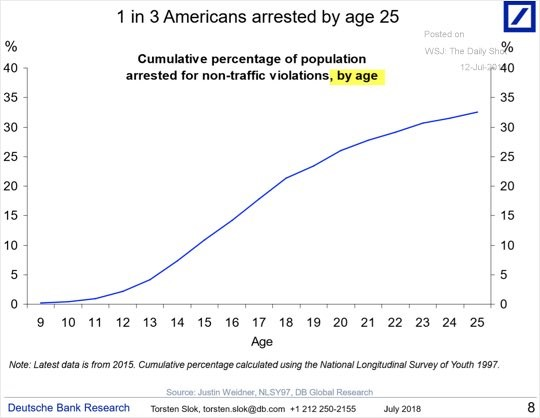 1 In 3 Arrested By 25