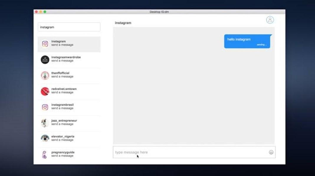 Instagram Inicia Teste de Envios de Mensagens via Direct no PC