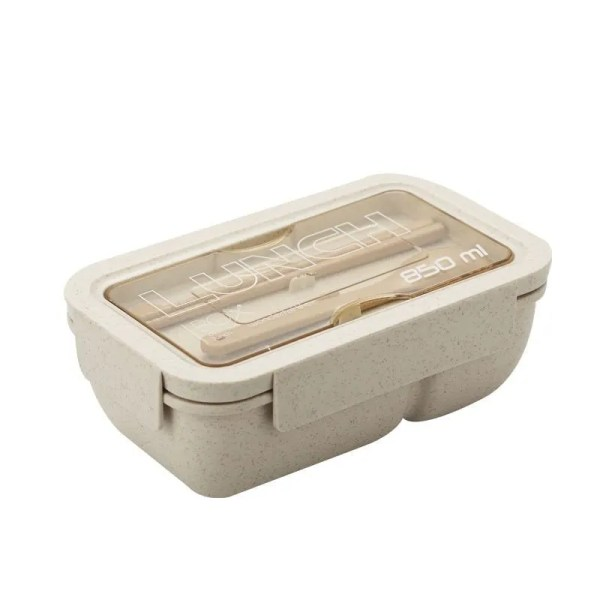 850 ml Wheat Straw Lunch Box Dinnerware Food Storage Container 9