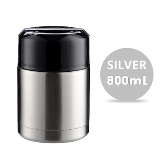 Large Capacity 600ML/800ML/1000ML Thermos Lunch Boxes Portable Stainless Steel 13