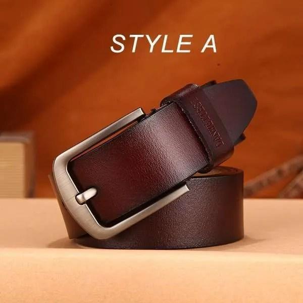 Men Genuine Leather Jeans Belt 9