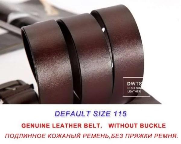 Men Genuine Leather Jeans Belt 12