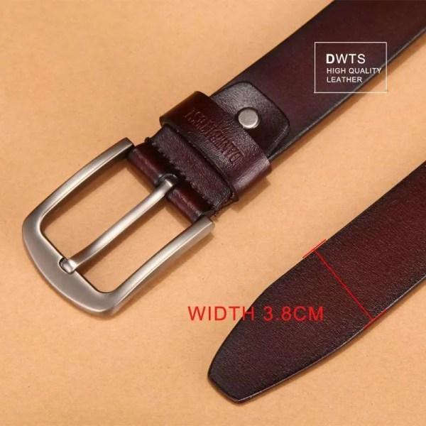 Men Genuine Leather Jeans Belt 5